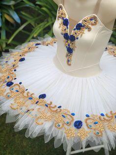 Cream, gold and royal blue classical ballet tutu Koz I Love Tutus Ballet Costumes, Dance Costumes, Dance Outfits, Ballet Outfits, Cute School Uniforms, Blue Tutu, Ballet Clothes, Cream Wedding, Cream And Gold
