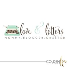 Premade logo, fashion, blogger, photographer, typewriter, vintage, Watermark Logo Photography Event by GoldenFoxDesign, $35.00
