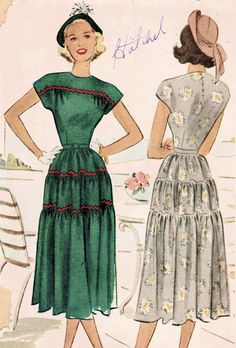 1940s McCall 7130 UNCUT Vintage Sewing Pattern by midvalecottage, $14.00