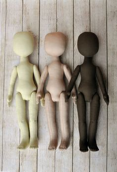 "3 Blank doll bodies 15"",blank rag doll, ragdoll body,the body of the doll made of cloth"