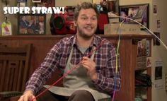 Parks and Recreation - Andy's Super Straw!