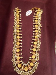 Pearls Necklace latest jewelry designs - Page 8 of 79 - Indian Jewellery Designs 14k Gold Jewelry, Pearl Jewelry, Wedding Jewelry, Antique Jewelry, Beaded Jewelry, Jewelery, Beaded Necklace, Women's Necklaces, Stone Necklace