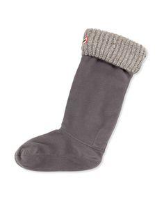 Granite+Fleck+Boot+Sock,+Slate+by+Hunter+Boot+at+Neiman+Marcus.