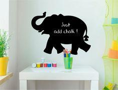 Chalkboard Elephant Wall Sticker (Buy 2 Get FREE mix and match) Boys Wall Stickers, Childrens Wall Stickers, Wall Decals, Elephant Silhouette, Cat Silhouette, Chalkboard Stickers, Blackboard Wall, Playroom Decor, Blackboards