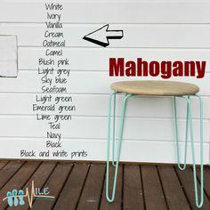 Mahogany goes with...