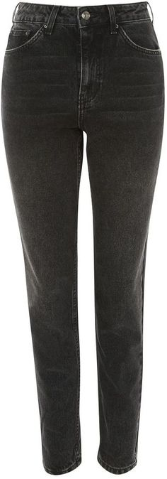 Topshop MOTO Washed Black Mom Jeans. #jeans #ad