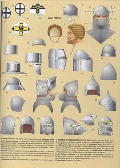 14th and 15th century helmets