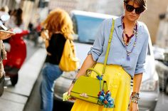 Thestreetfashion5xpro: In the Street...Dressed in Yellow...For vogue.it