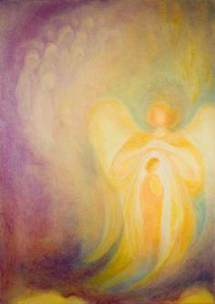 Golden Angel by Cornelia Lauwaert Rudolf Steiner, Prophetic Art, Chalkboard Drawings, I Believe In Angels, Angel Pictures, Angels Among Us, Archangel Michael, Angel Art, Sacred Art
