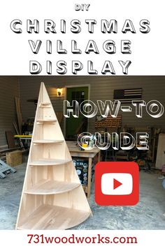 This how to build a Christmas Village Display Tree goes step by step. This Christmas Display Village Tree is a great way to showcase your Christmas Village. This DIY stand is used to display Christmas villages. Christmas Tree Stand Diy, Christmas Tree Village Display, Corner Christmas Tree, Wood Christmas Tree, Christmas Villages, Christmas Holidays, Christmas Decorations, Christmas Displays, Christmas Mantles