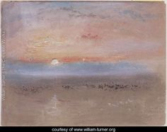 Joseph Mallord William Turner 'A Low Sun', - Bodycolour on paper - Dimensions Support: 224 x 293 mm - © Private Collection, UK Joseph Mallord William Turner, Turner Painting, Painting & Drawing, Watercolor Landscape Paintings, Abstract Landscape, Art Triste, Turner Watercolors, Seascape Art, Modern Art