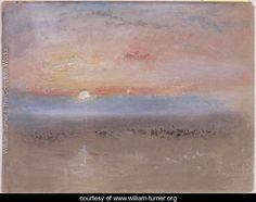Sunset, c.1830 - Joseph Mallord William Turner - www.william-turner.org