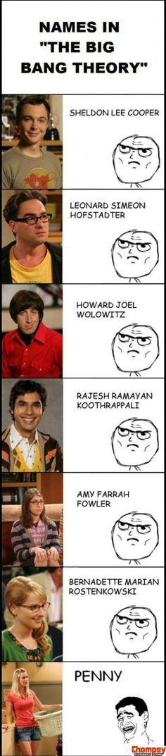 The Big Bang Theory Names