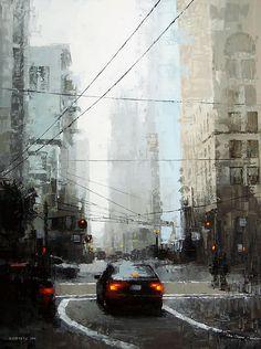 Veiled District by David Cheifetz Oil ~ 24 x 18