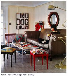Bohemian Vintage living room by Anthropologie