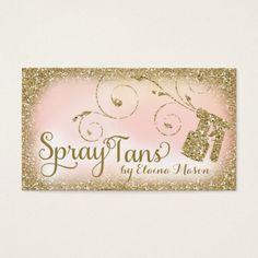 Rosa Glam do brilho do ouro de Tan do pulverizador Cartão De Visita