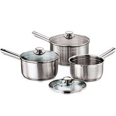 Stainless steel saucepans have encapsulated bases which ensure brilliant heat conductivity and are induction suitable. Generally the bottom of this kind of cookware includes a coating of copper or aluminum to make sure that the heat is evenly distributed.
