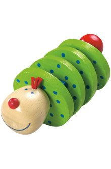 Inventive Playthings for Inquisitive Minds - Rattling figure Flapsi - Wooden clutching toys - For Babys - Toys & Furniture