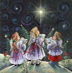 """From Kj:""""Angel Choir""""   Janet Stever goodnight sweet sisters, peaceful dreams to everyone. God bless each of you tomorrow & keep you in his care. Love you!"""