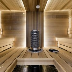 Saunas are now a favorite place for some people to relieve fatigue and fatigue after busy days. So, the weekend choice for them is a sauna to help them relax rather than just being and resting at home. Sauna Steam Room, Sauna Room, Black And Silver Wallpaper, Sauna Lights, Building A Sauna, Sauna Shower, Sauna Design, Hotel Gym, Spa Rooms