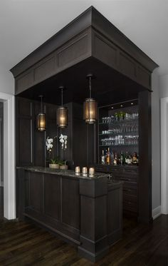 Corner Bar   AMW Design Studio Sourced On Houzz By Corinne Madias Michigan  Real Estate