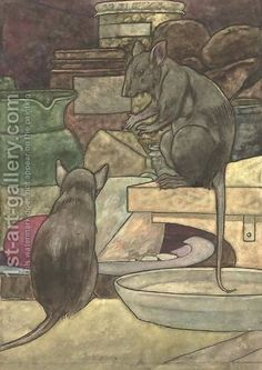 The Field Mouse And The Town Mouse - Aesop Fables