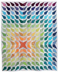 Great quilt for Deb Fowler Flashlight ruler.   Wavelength PDF Pattern - Freshly Pieced Quilt Patterns - 1 and a second pattern too