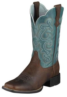 Womens Ariat Quickdraw Boots Brown Rowdy #10004720