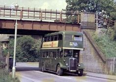 London Country bus route 336 going under Black Horse bridge (carrying the Met line) near Amersham, mid 1960s Photo courtesy of Nick Vince