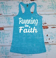 Running On Faith. Gym Shirt. Workout Tank by strongconfidentYOU, $21.00