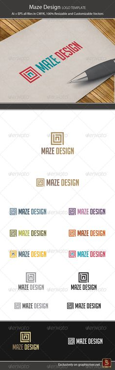 Maze Design Logo Template — Vector EPS #vector #retro • Available here → https://graphicriver.net/item/maze-design-logo-template/2431009?ref=pxcr