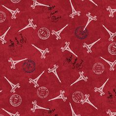Oh La La! Welcome to Paris! This fabric is from the Love From Paris collection by Windham Fabrics. The stamps including the Eiffel Tower comes in red, light blue, and navy Welcome To Paris, Windham Fabrics, Cotton Quilting Fabric, Stamps, Light Blue, Tower, Sew, Quilts, Navy