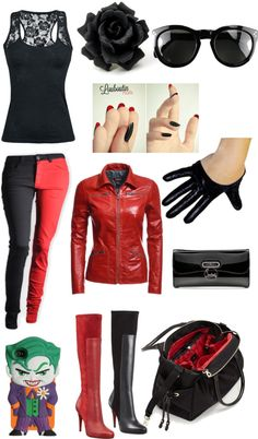 """Ms. Harley Quinn"" by lauren-schatzman on Polyvore"