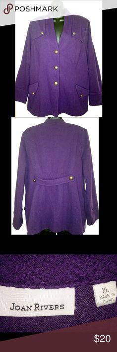 Joan Rivers XL Jacket Blazer Deep Purple Joan Rivers XL Jacket Blazer Deep Purple Joan Rivers Jackets & Coats