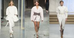 Spring/Summer 2017 takes fashion back to the drawing board, re-defining a confident look with exaggerated lines, metallic effects, graphic prints on new-generation trenches and bright candy pink and sunshine yellow. With color and light as watchwords for the season, see the trends we're taking away from Fashion Week Spring/Summer 2017.