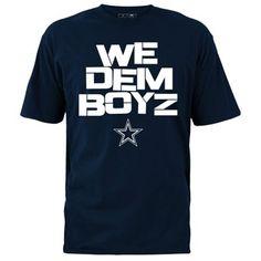 Mens Dallas Cowboys Navy Blue We Dem Boyz T-Shirt