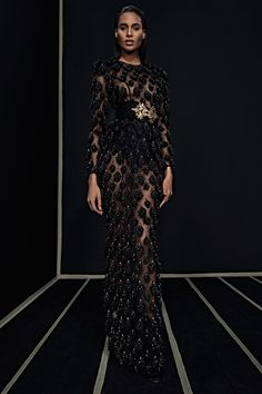 Ready-To-Wear Collection via Designer Olivier Rousteing   Modeled by Cindy Bruna   January 25, 2016; New York