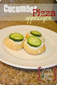 easy cucumber pizza appetizer by living laughing and loving