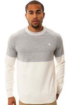 The LRG New Age Dons Crewneck Sweater in Off White by LRG