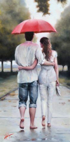 A romatic walk in the rain with the one you love - Daniel Del Orfano