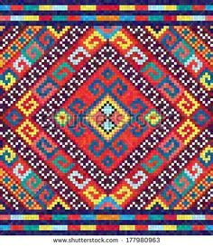 Ukrainian ethnic seamless ornament, vector illustration. May be used as background, wrap paper, wallpaper, fabric, sticker for cases, covers. Endless Slavic national decorative design.