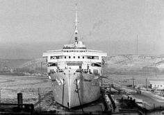 Wilhelm Gustloff in Gotenhafen (Gdynia), Poland in 1942. Gotenhafen would be the last port the Wilhelm Gustloff would sail from.