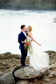 Oceanside Bali Wedding   Photo by Imaj Gallery