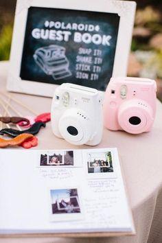 Polaroid guest book!
