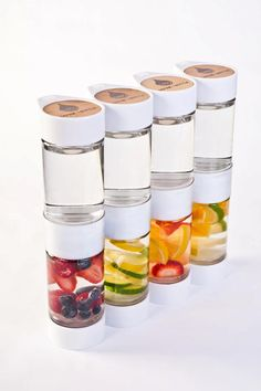 Sustainability: Define Bottle: An eco-friendly water bottle with a DIY fruit-infusion function.