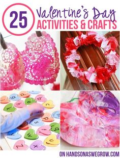 25 Valentine's Activities & Crafts for Kids - most toddlers can do too