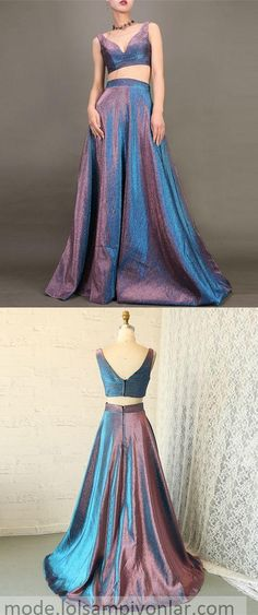 two piece metallic satin prom dresses for teens, simple a line senior prom party dresses, unique graduation party gowns Prom Dresses For Teens, Long Prom Gowns, Plus Size Prom Dresses, Pink Prom Dresses, Prom Party Dresses, Occasion Dresses, Strapless Dress Formal, Evening Dresses, Sexy Dresses