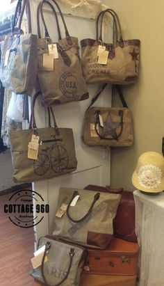 New Mona B Bags at the shop. #MonaB #Cottage960 #recycyle