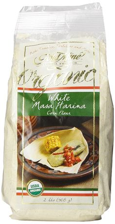 Gold Mine Organic Masa Harina Corn Flour, White, 2 Pound -- Continue to the product at the image link.