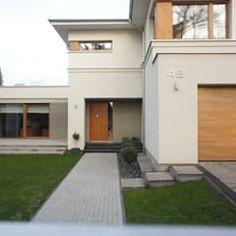 Dom po przbudowie nowoczesne domy od sasiak - sobusiak pracownia projektowa nowoczesny   homify Garage Doors, Mansions, House Styles, Outdoor Decor, Design, Home Decor, Portal, Houses, Photos